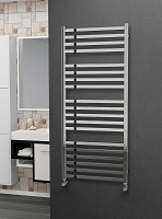 Eastgate Square Tube Stainless Steel Heated Towel Rail 1400mm High x 600mm Wide